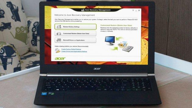 Как произвести восстановление ноутбука до заводских настроек