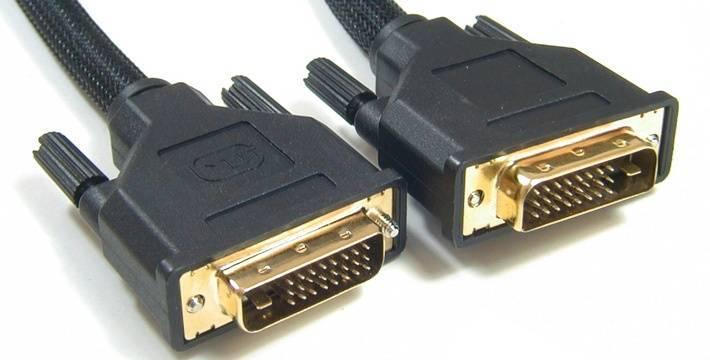 Подключение к телевизору черезе DVI кабель