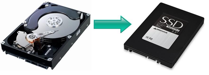 Как в ноутбуке заменить винчестер HDD на SSD
