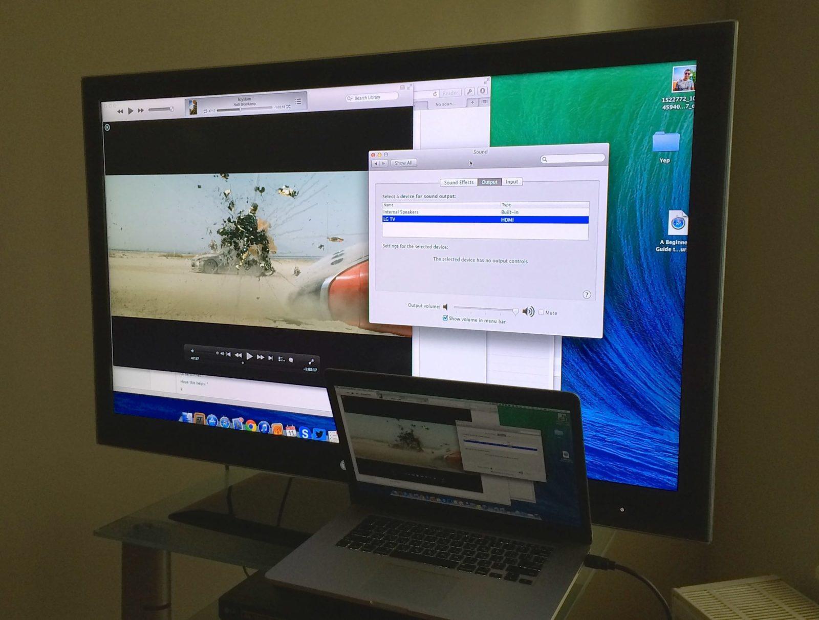 Почему не работает подключение ноутбука к телевизору через кабель HDMI