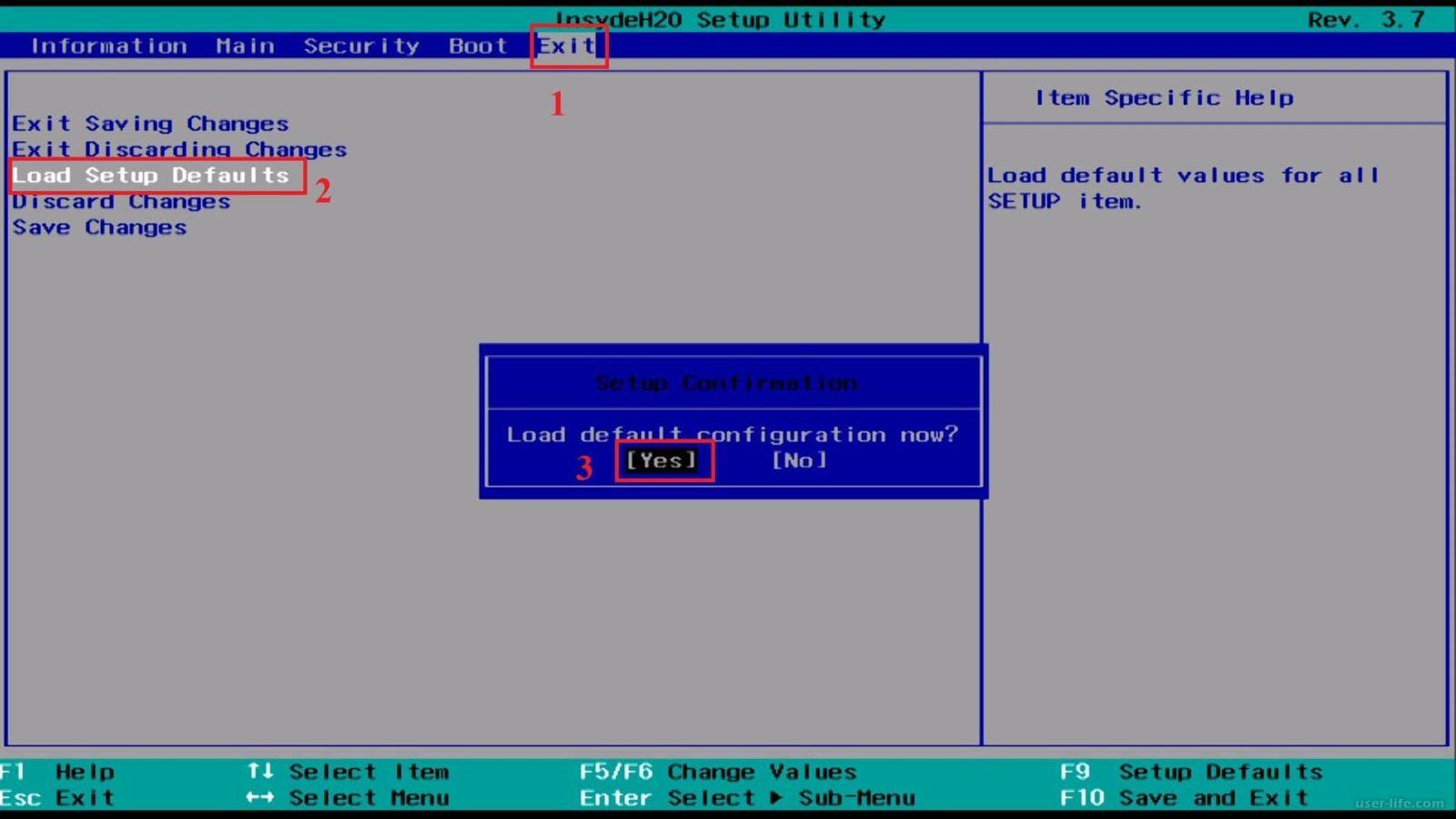Обнуление BIOS через интерфейс