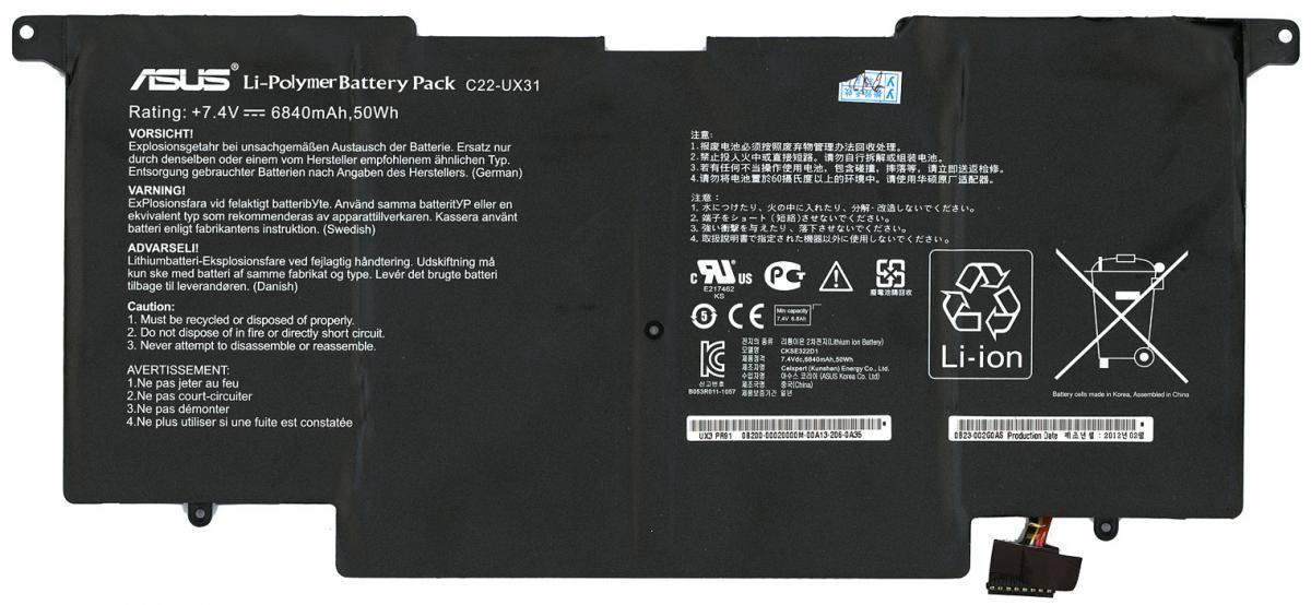 Характеристики внешнего аккумулятора на ноутбук Asus