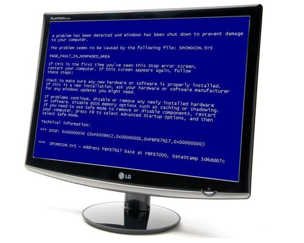 Как убрать синий экран