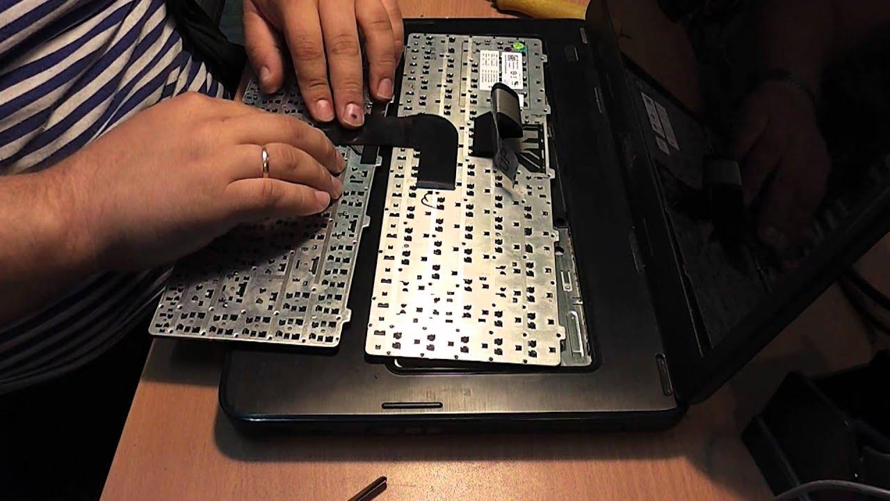 Чистка клавиатуры ноутбука после пролития жидкости